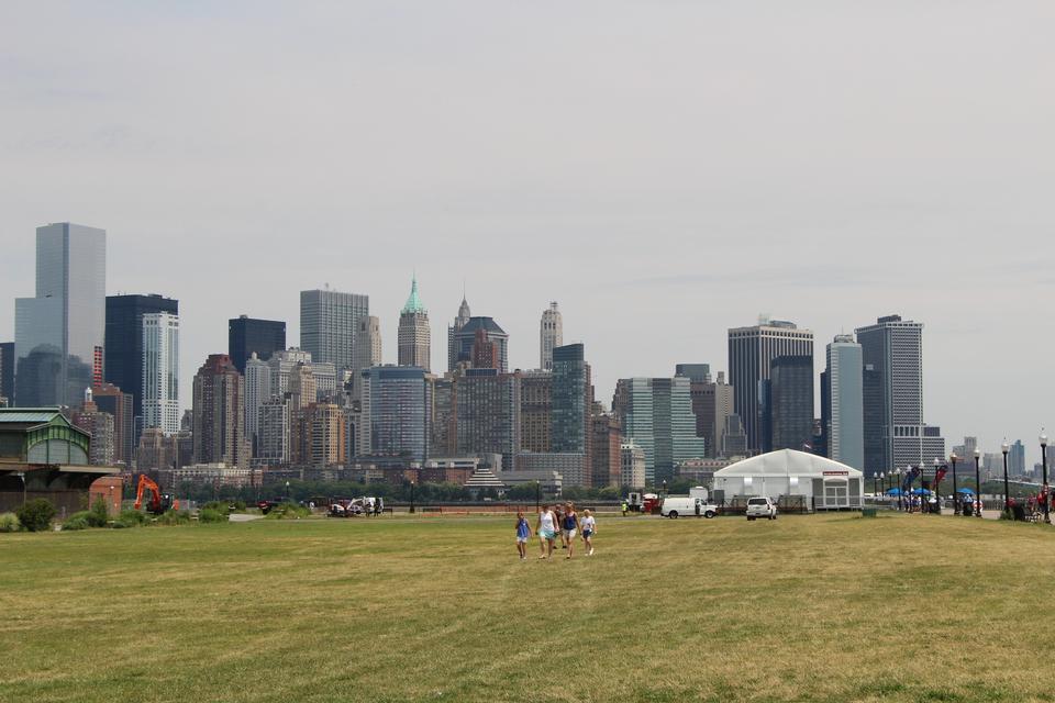 Manhattan, Nueva York de la estatua de Liberty State Park
