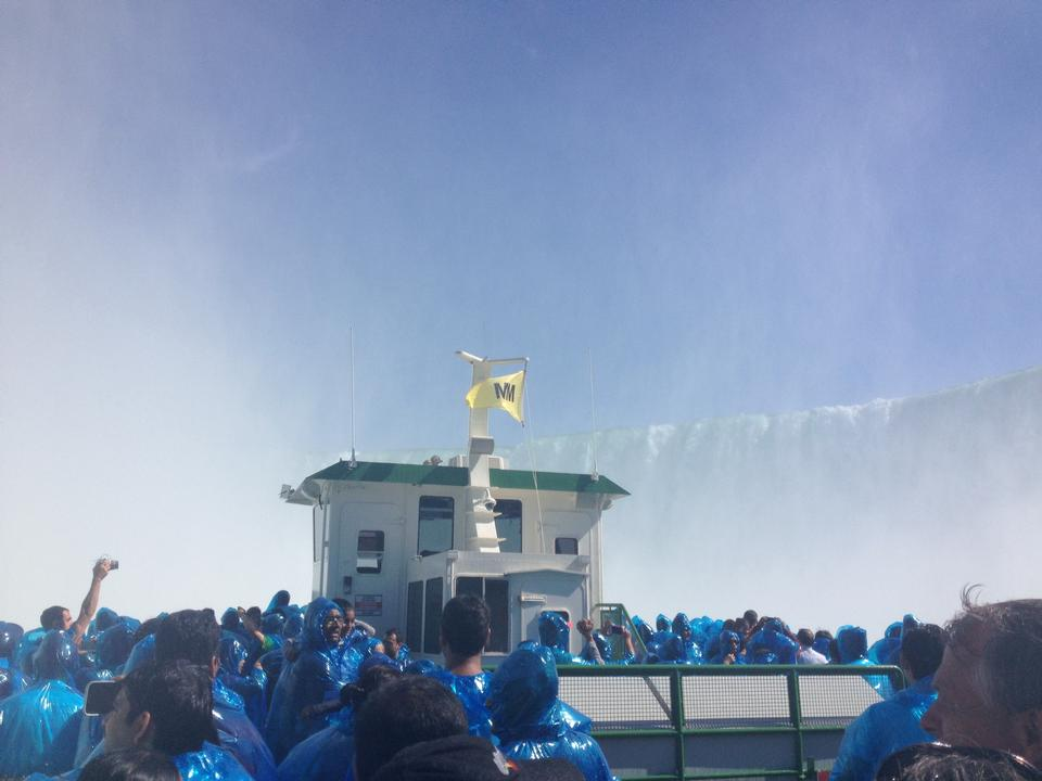A ferry of the Maid of the Mist boat tour