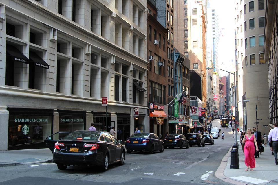 Финансовый район Манхэттена в Нью-Йорке