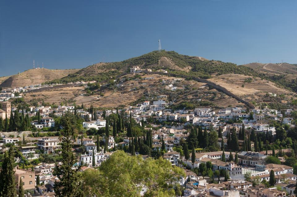 Albaicin and Sacromonte districts in Granada, Spain