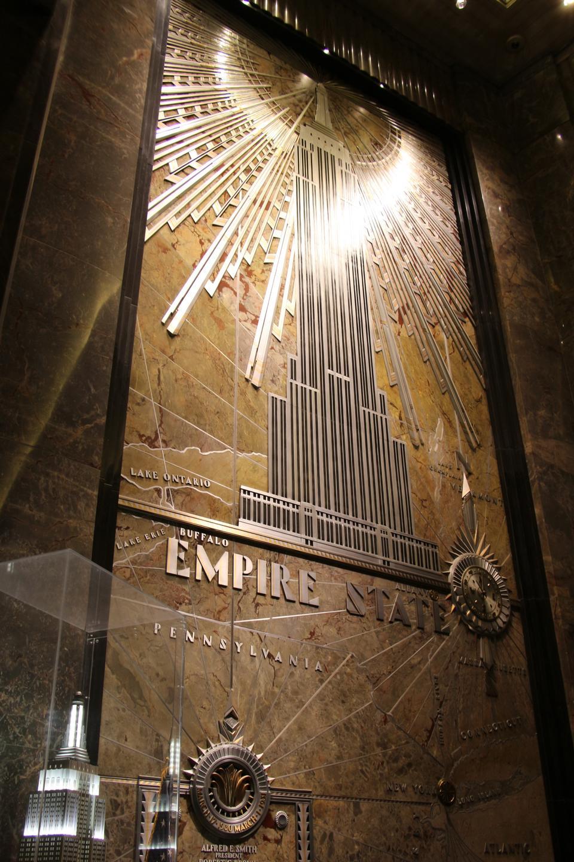帝国大厦入口大厅大约