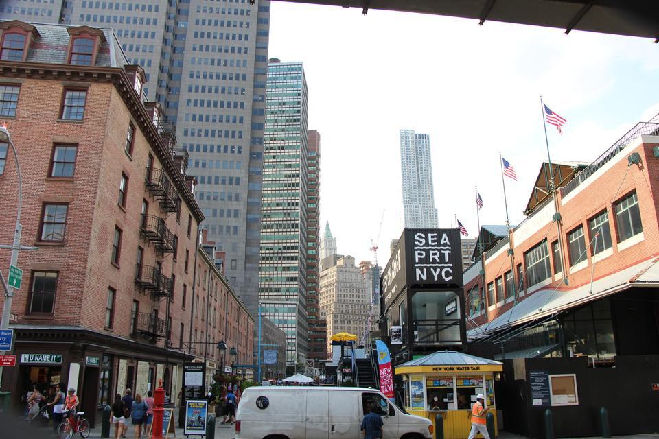 Pier 17 at Lower Manhattan in New York