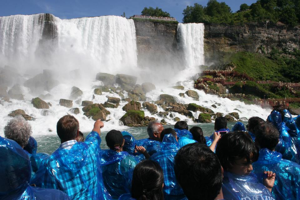 Niagara Falls, and Maid of the Mist Tour Riders