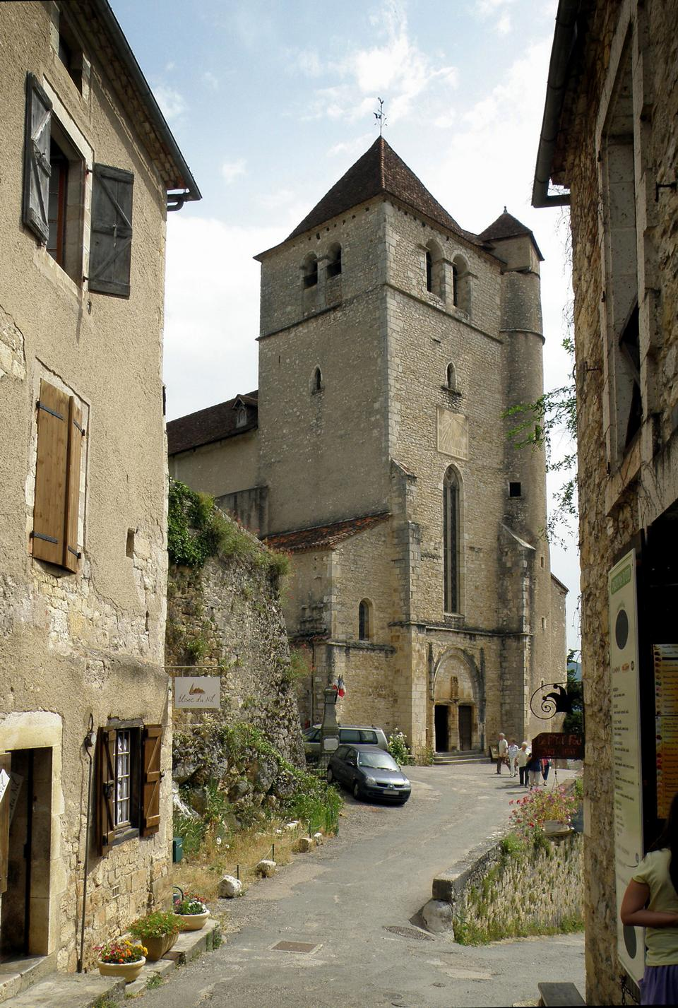 A sight of a small street in Saint-Cirq Lapopie village