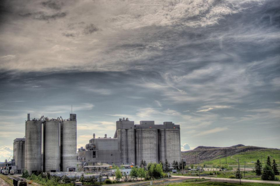 The Inland Cement Plant in Edmonton, Alberta, Canada