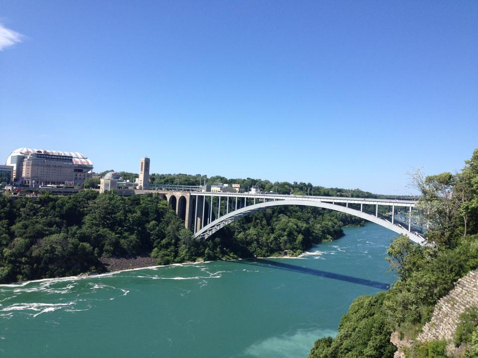 Rainbow Bridge a Niagara Falls USA e Canada Border