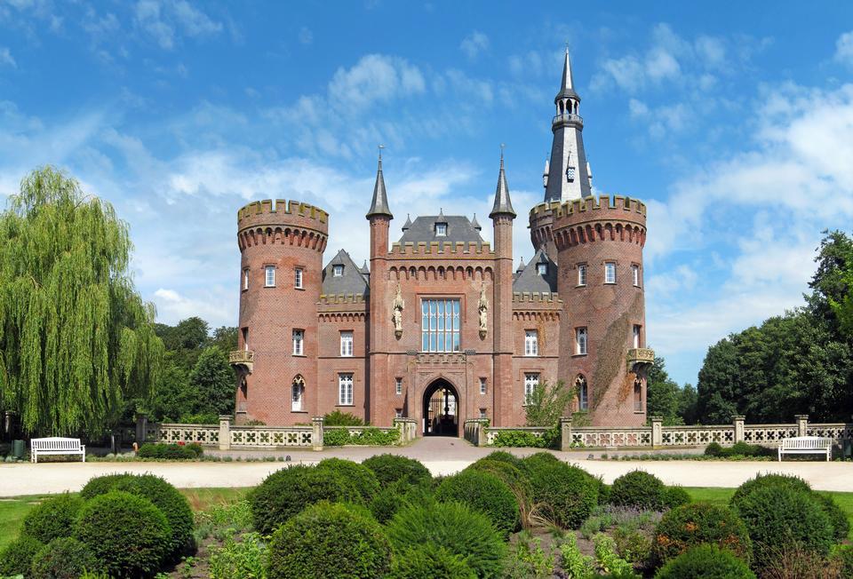中世纪的城堡在贝德堡豪,北莱茵 - 威斯特法伦州,德国