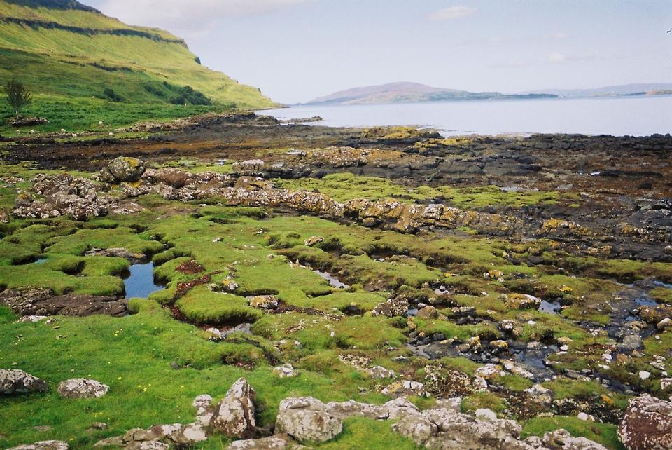 궁리, 스코틀랜드의 섬의 아름다운 해안선