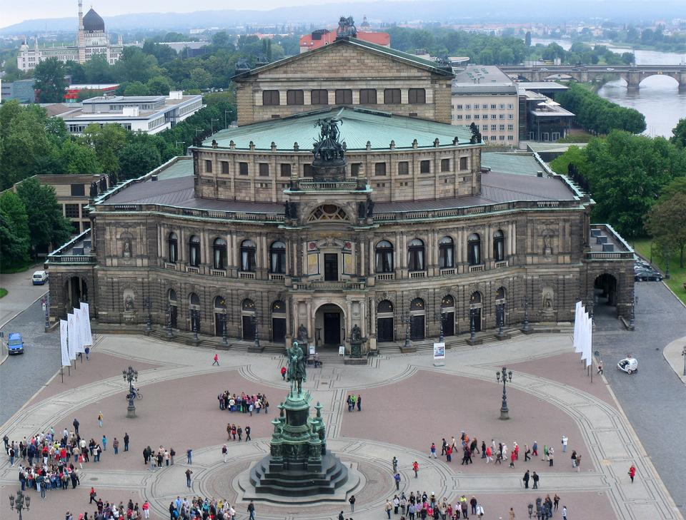The Semperoper opera house of the Saxon State Orchestra aka