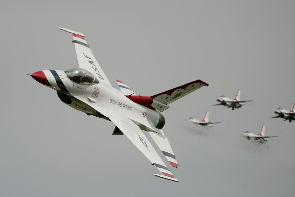 F-16 Fighting Falcon Thunderbirds with the U.S. Air Force
