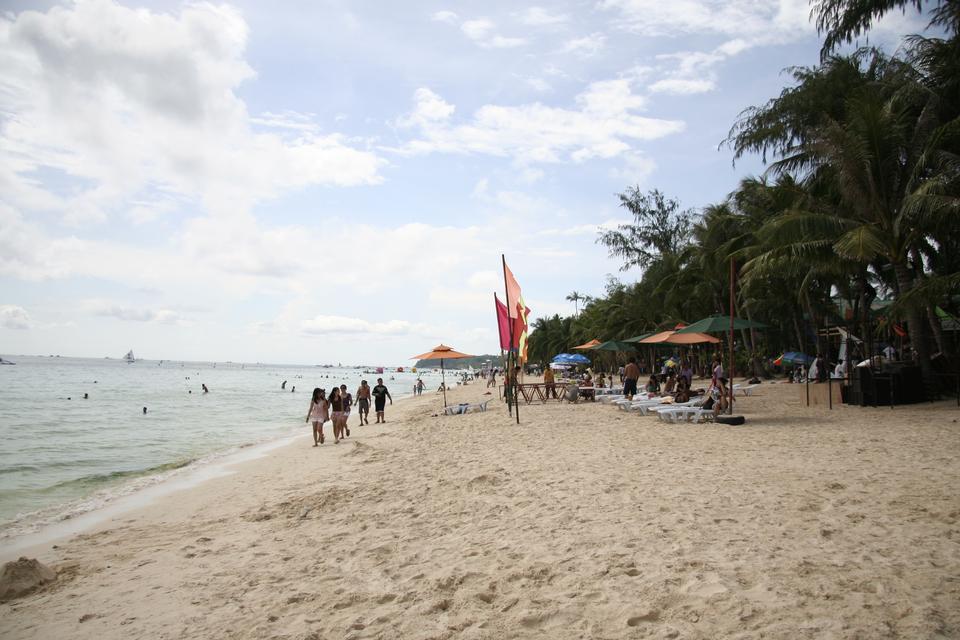 White sandy beach on Boracay island, Philippines