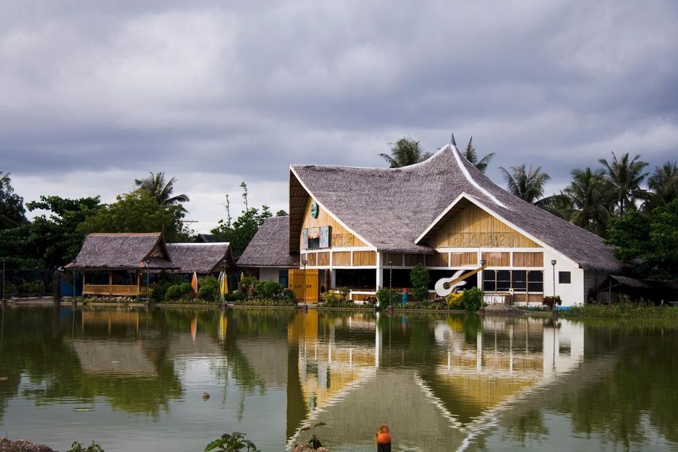 Beautiful park on Crystal cave island. Boracay, Philippines