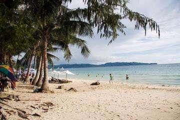 Download grátis imagem de alta resolução - Praia tropical com belas palmeiras e areia branca