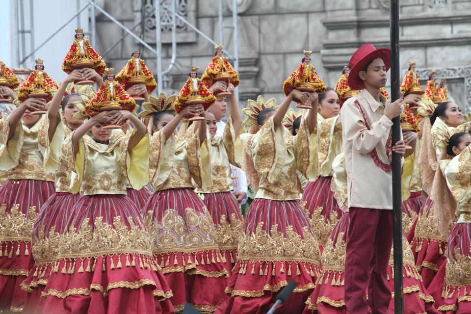 세부 시티, 필리핀 Sinulog 산토 니노 퍼레이드