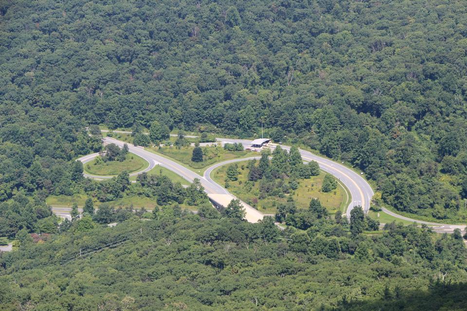 Vue de la vallée de Shenandoah à partir de Marie Rocher