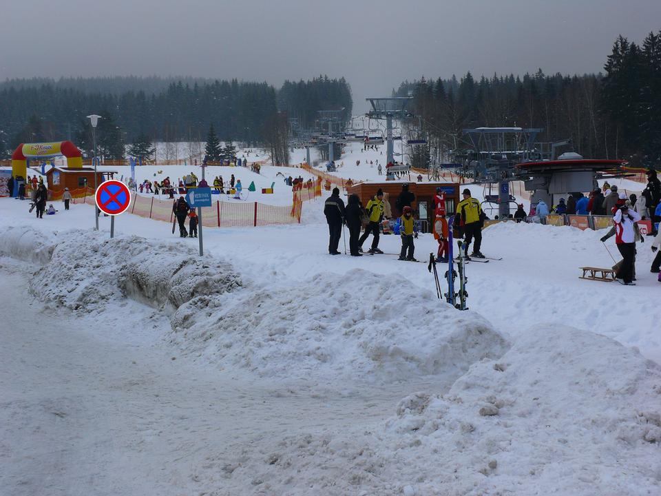La station de ski à Sumava