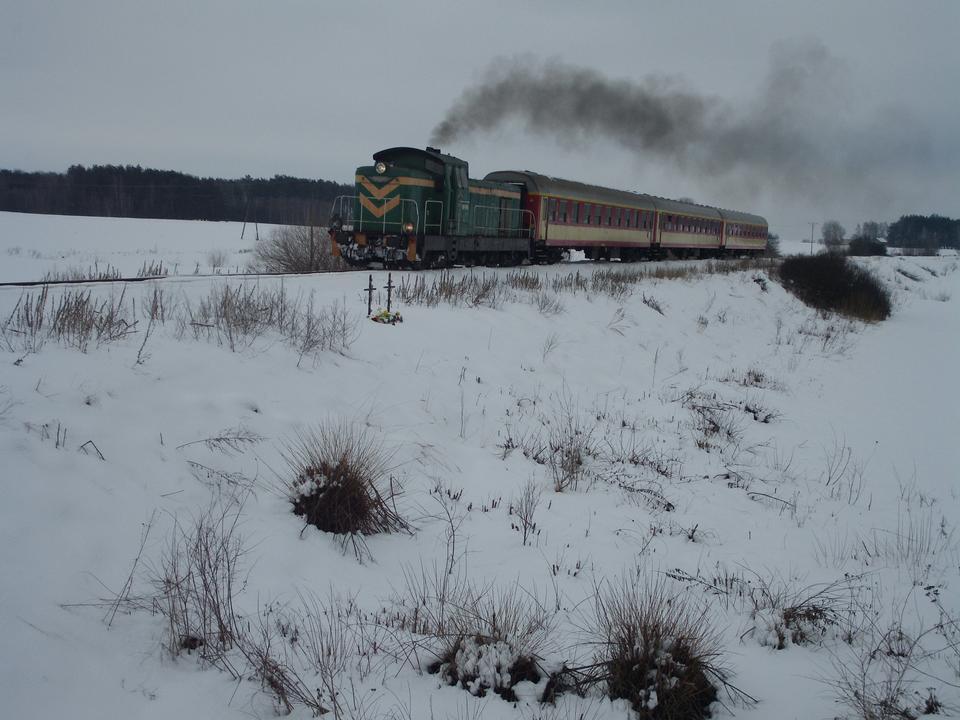 火車上的積雪覆蓋軌道