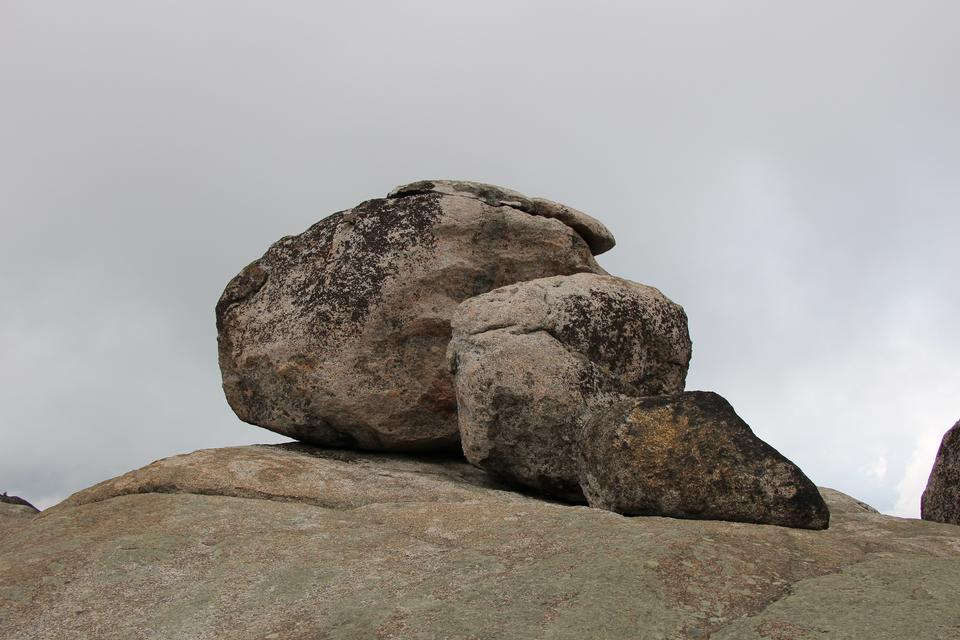 Large boulders on a climb of Old Rag
