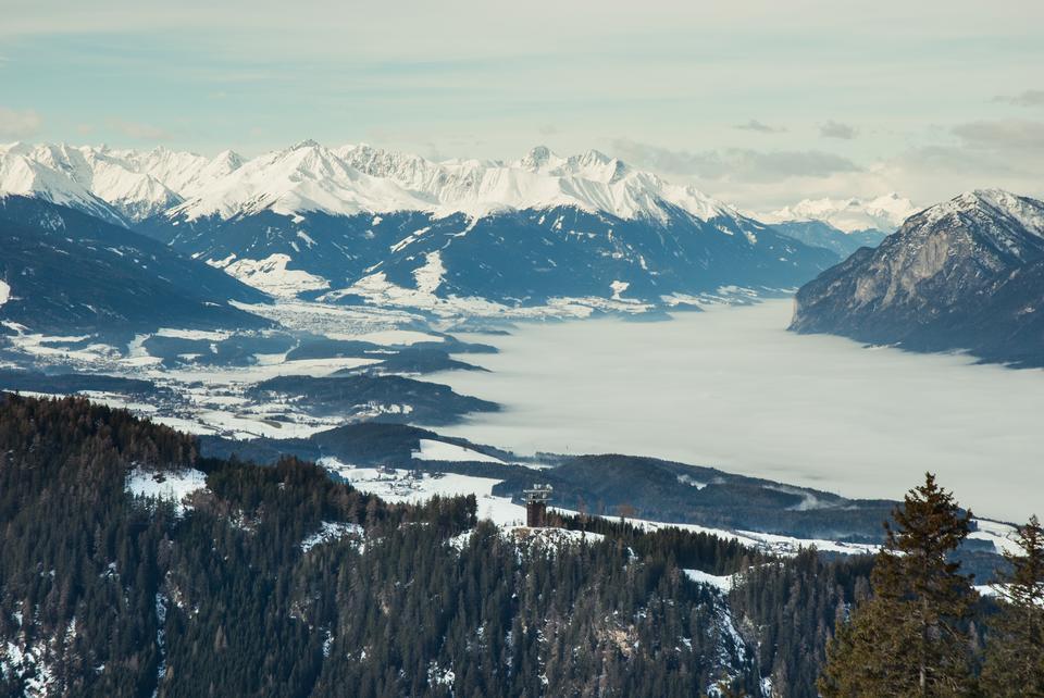 Majestic view of Gran Paradiso peak