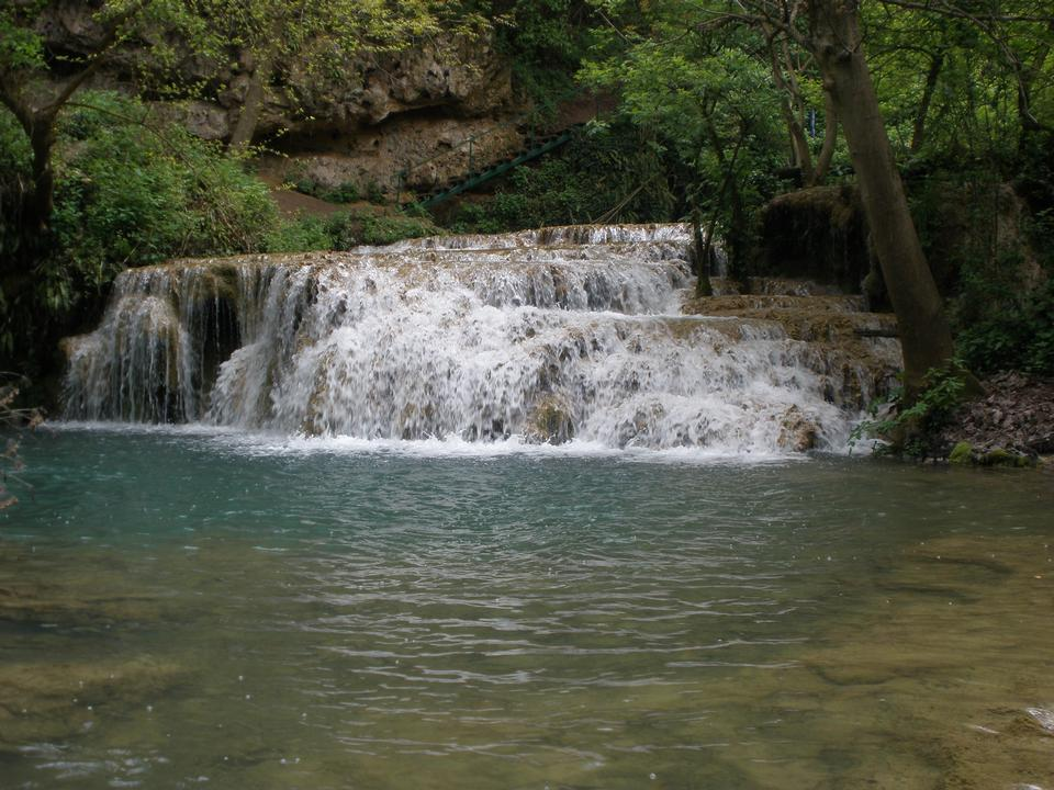 Krushuna cascade waterfalls in Bulgaria