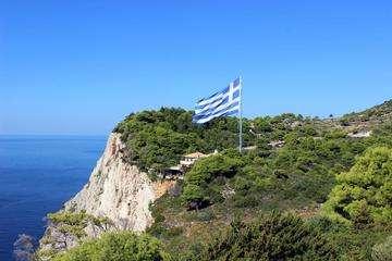 Descarga gratis la imagen de alta resolución - El mayor de la bandera griega por Keri, Zakynthos, Grecia