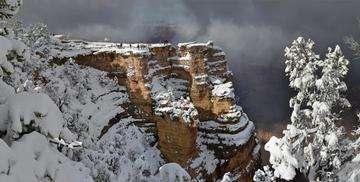 Descarga gratis la imagen de alta resolución - Gran Cañón del Colorado: Tormenta de Invierno de Mather Point