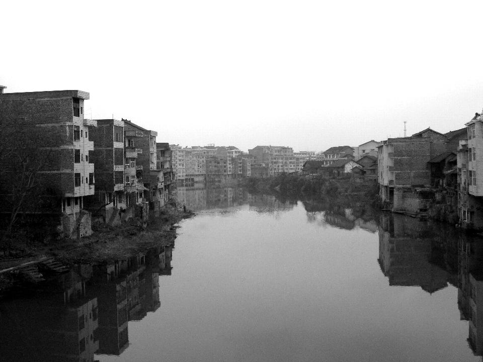 Vista del Río Tuojiang en la provincia de Hunan, China