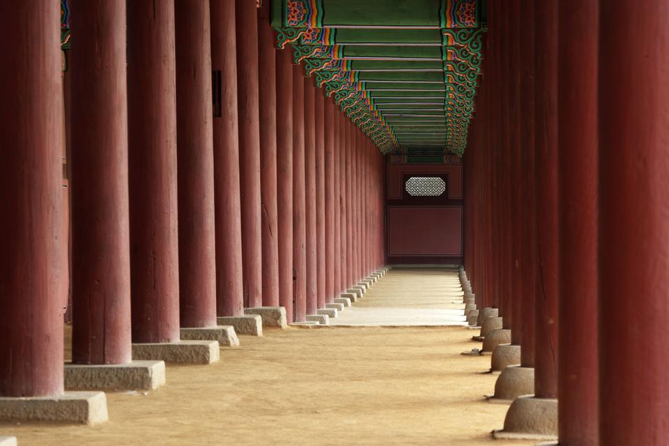 Tadashi of Kyng-bokkung, a corridor around Kunjongjon
