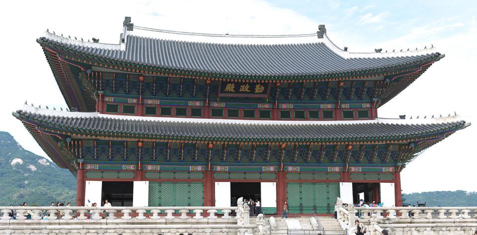 Motivos Gyeongbokgung Palace en Seúl, Corea del Sur