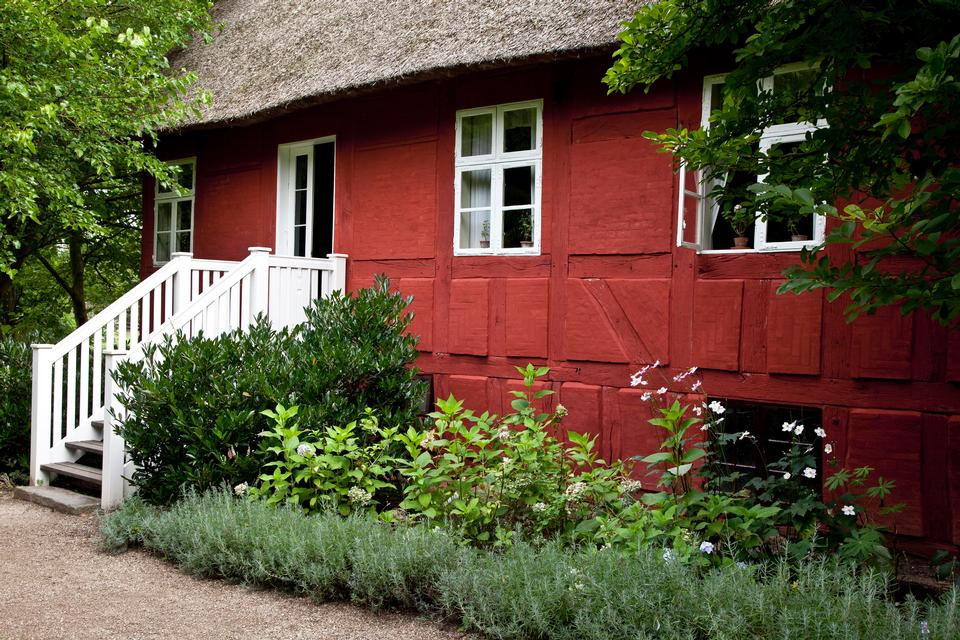 beautiful home with beautiful flowers garden