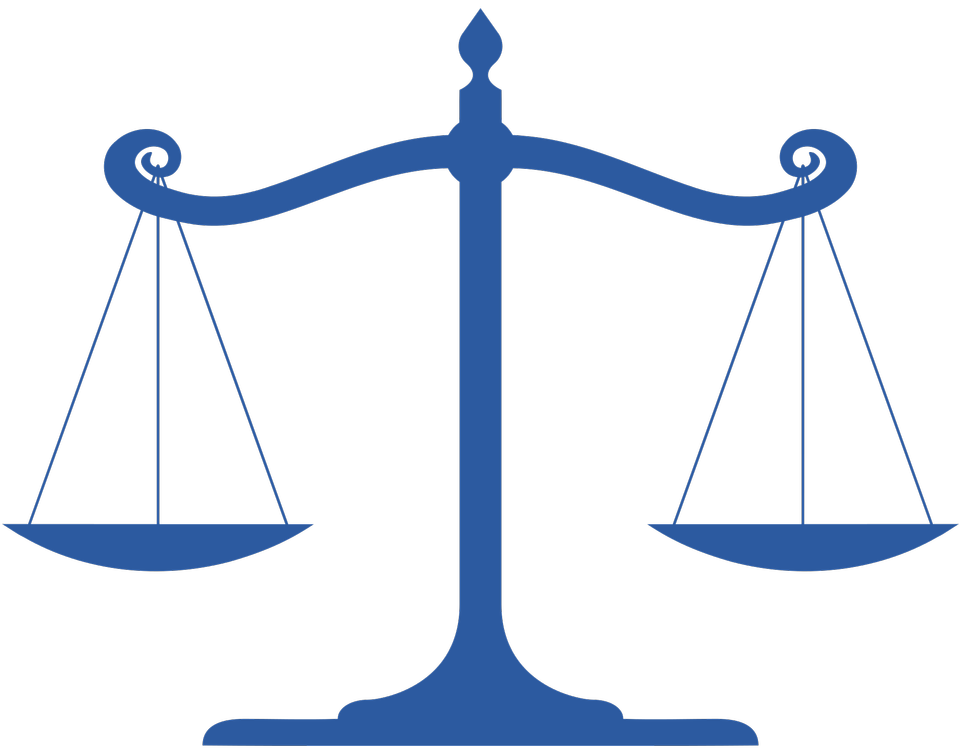 Balanced scale of Justicfe