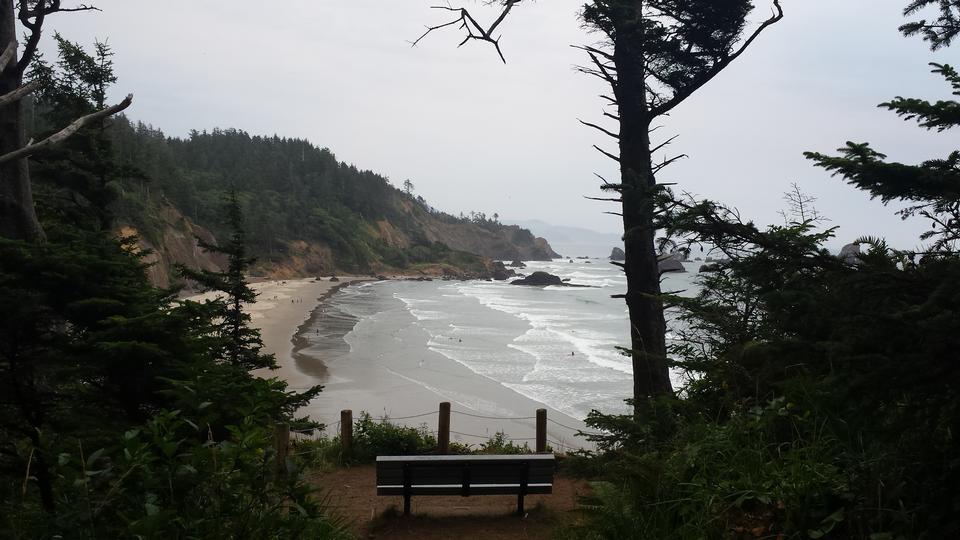 オレゴン海岸と太平洋