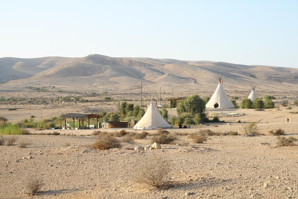 Indian tent in the desert