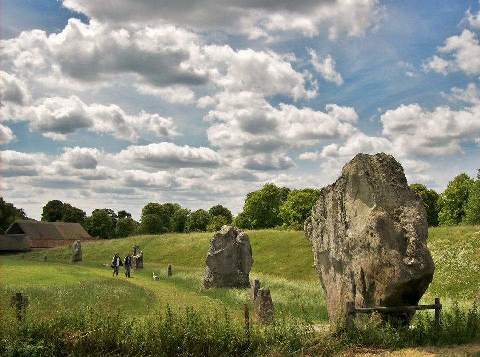 在埃夫伯里威尔特郡英格兰rehistoric石阵