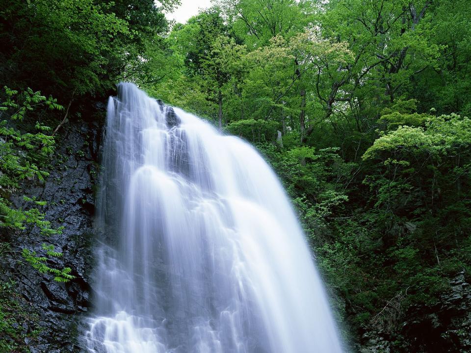 著名的美麗的瀑布