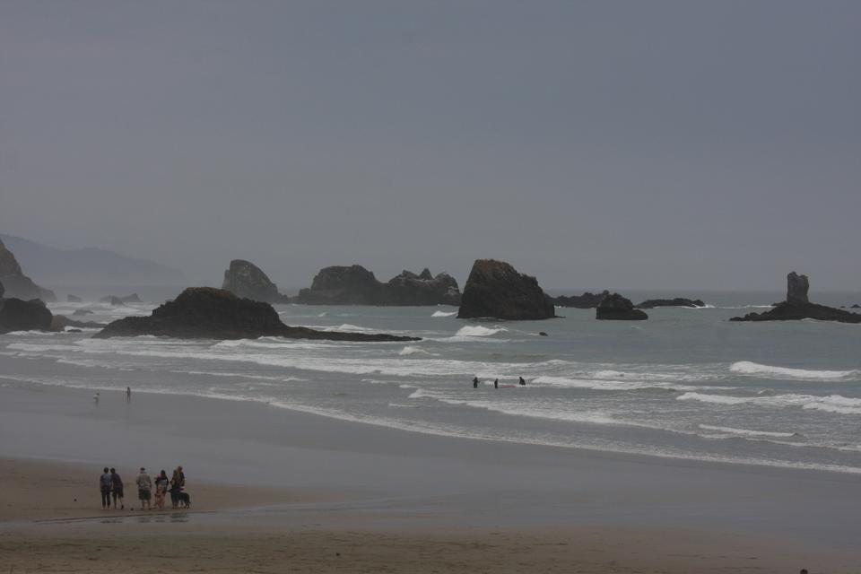 Die Oregon-Küste und den Pazifischen Ozean