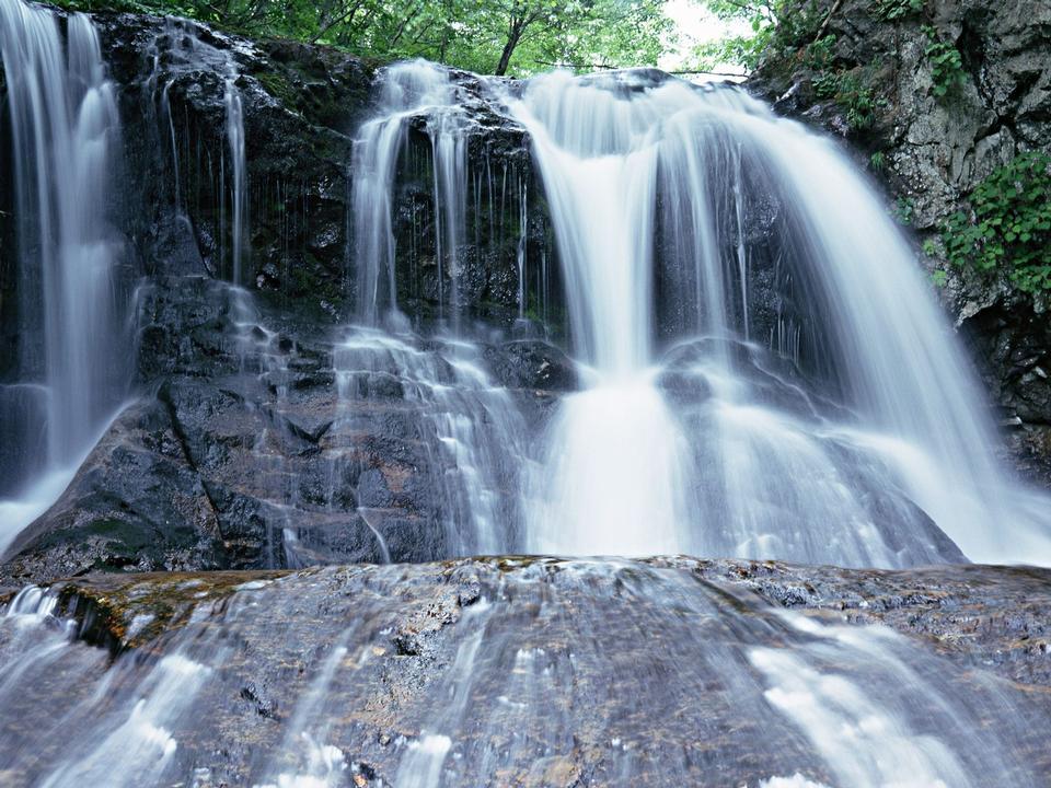 Motion Blur Waterfalls Peaceful Nature Landscape