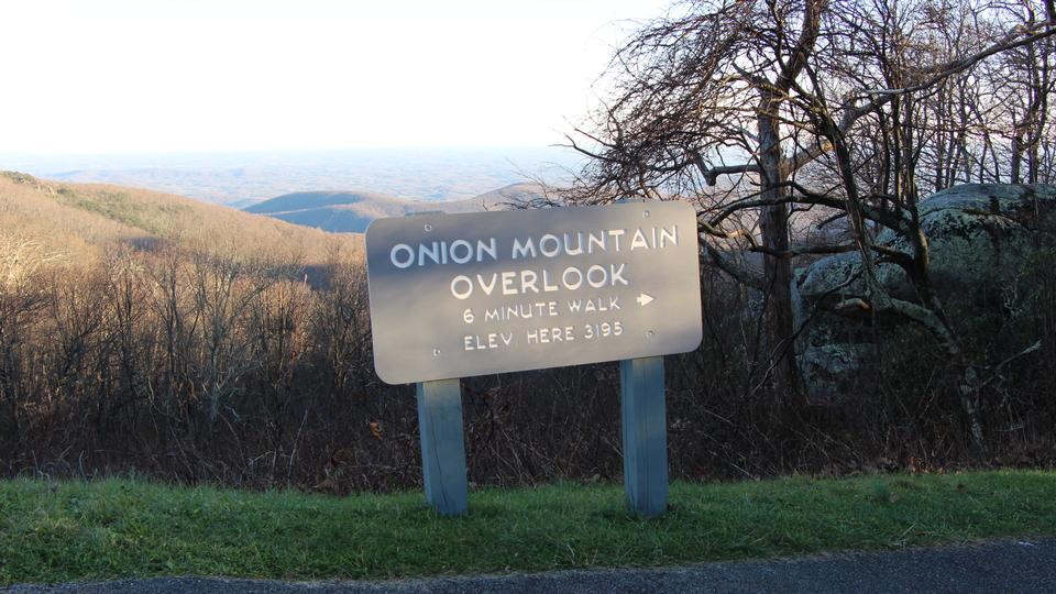 Onion Mountain Overlook on the Blue Ridge Parkway in Virginia
