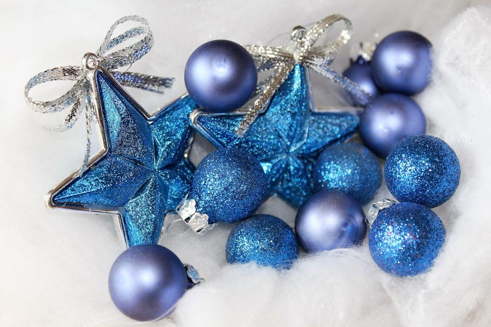 Christmas or New Year holiday decoration with Christmas balls