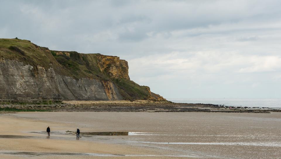 Gold Beach Arromanches Calvados, Normandia, Francia