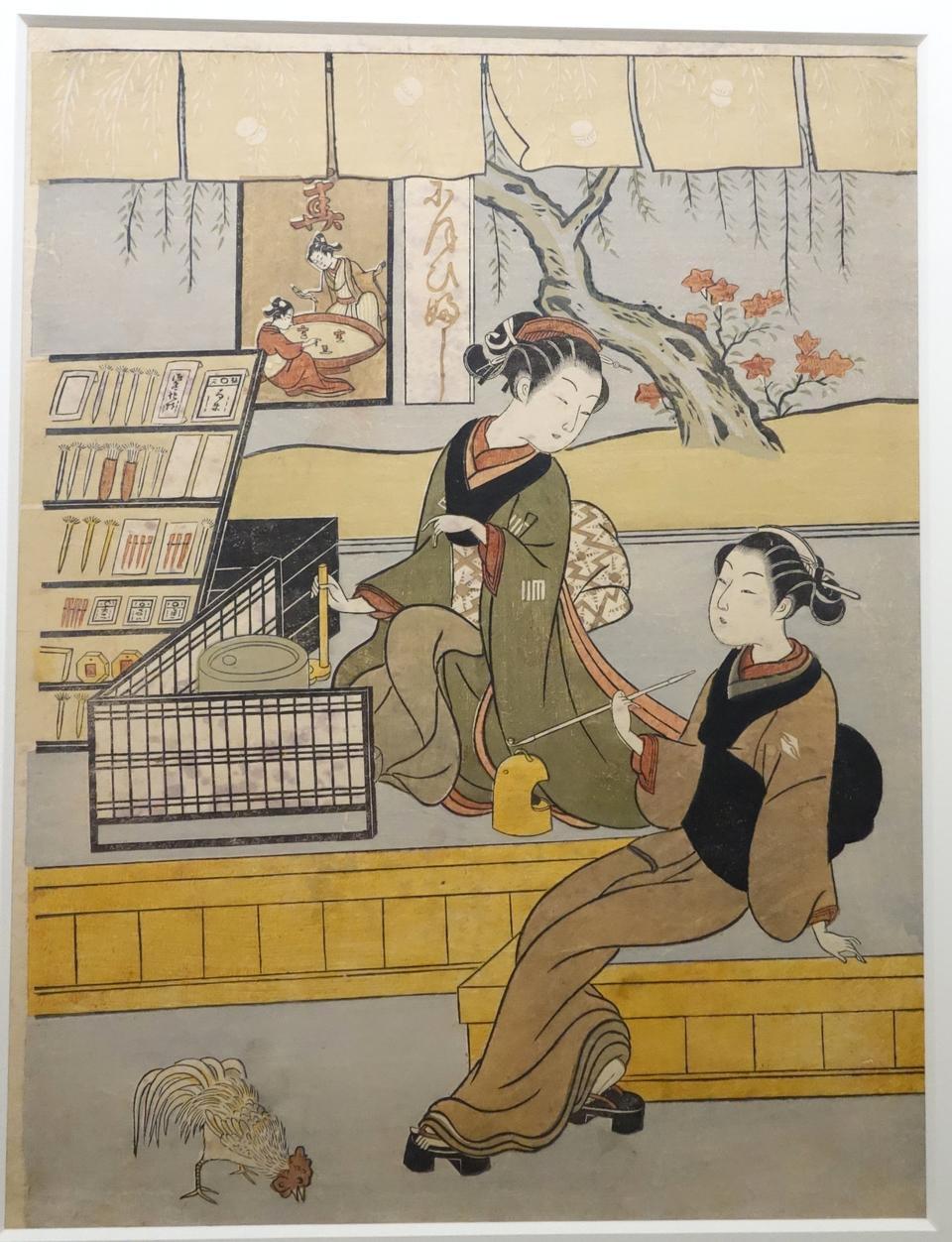 舊的老式日本傳統繪畫