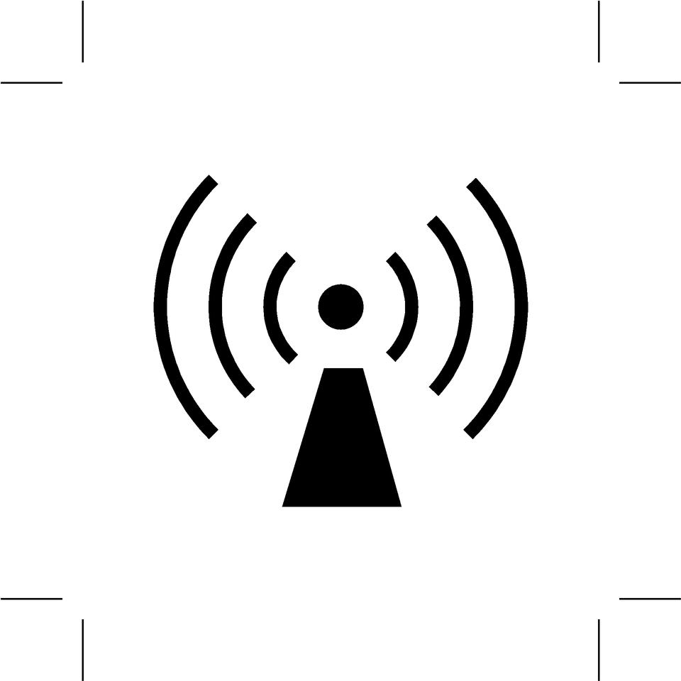 icono de wifi en el fondo blanco