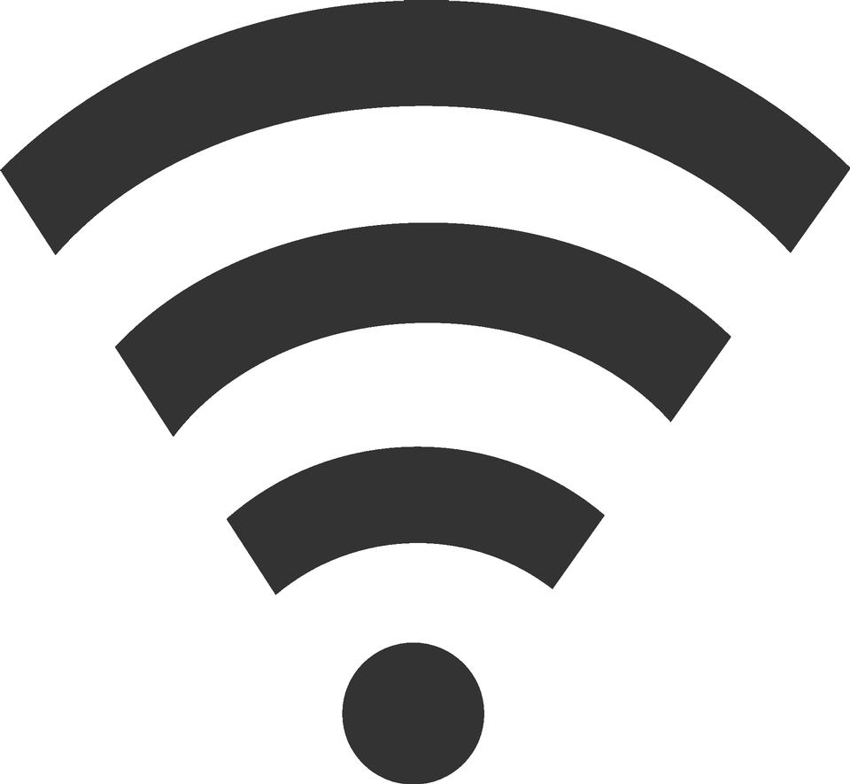 Icona wifi su sfondo bianco