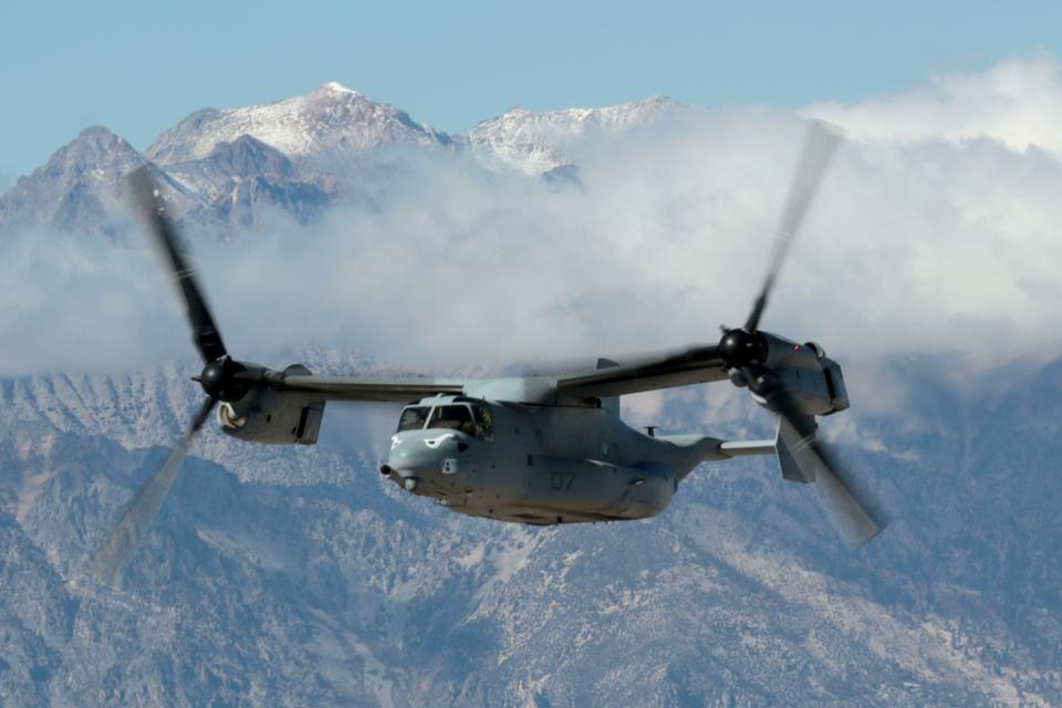 Самолет морской пехоты США MV-22B Osprey