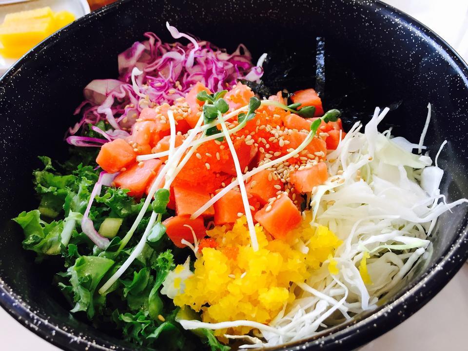 Raw fish bibimbap