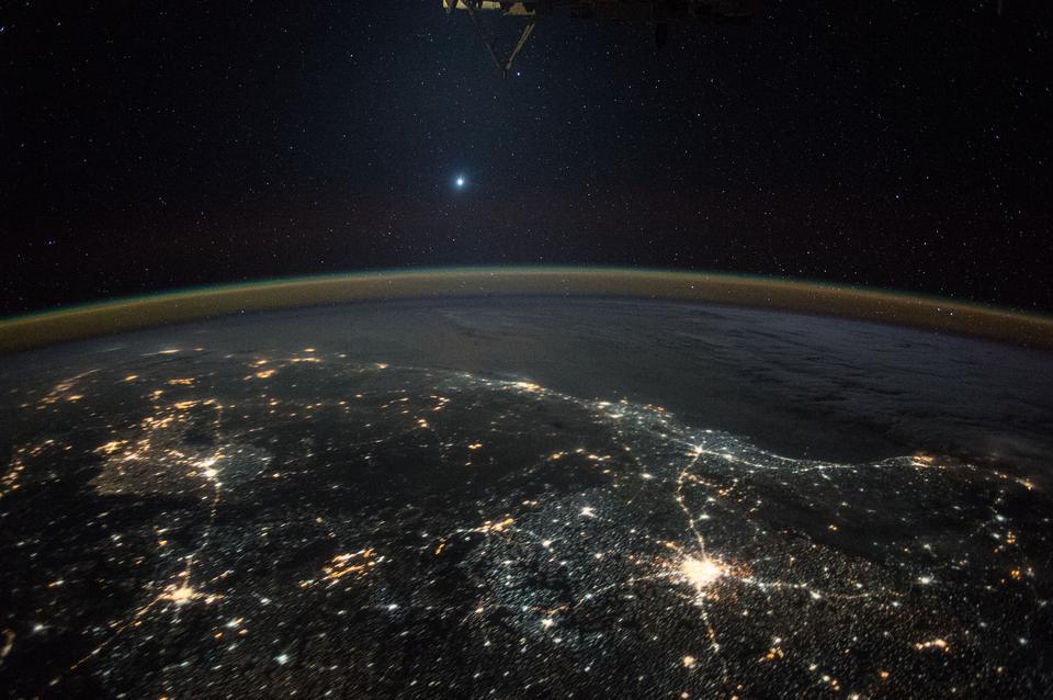 金星從國際空間站