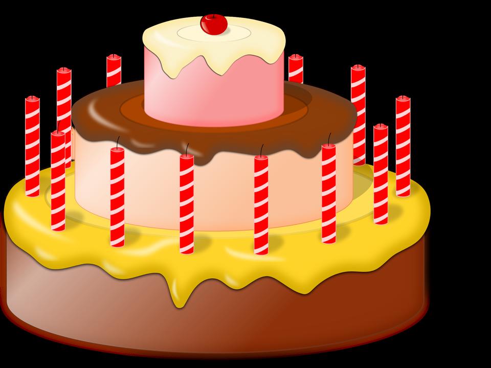 pastel de cumpleaños icono plana