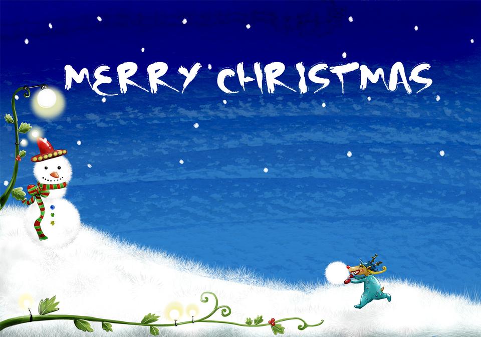 Fondo de la Navidad-muñeco de nieve