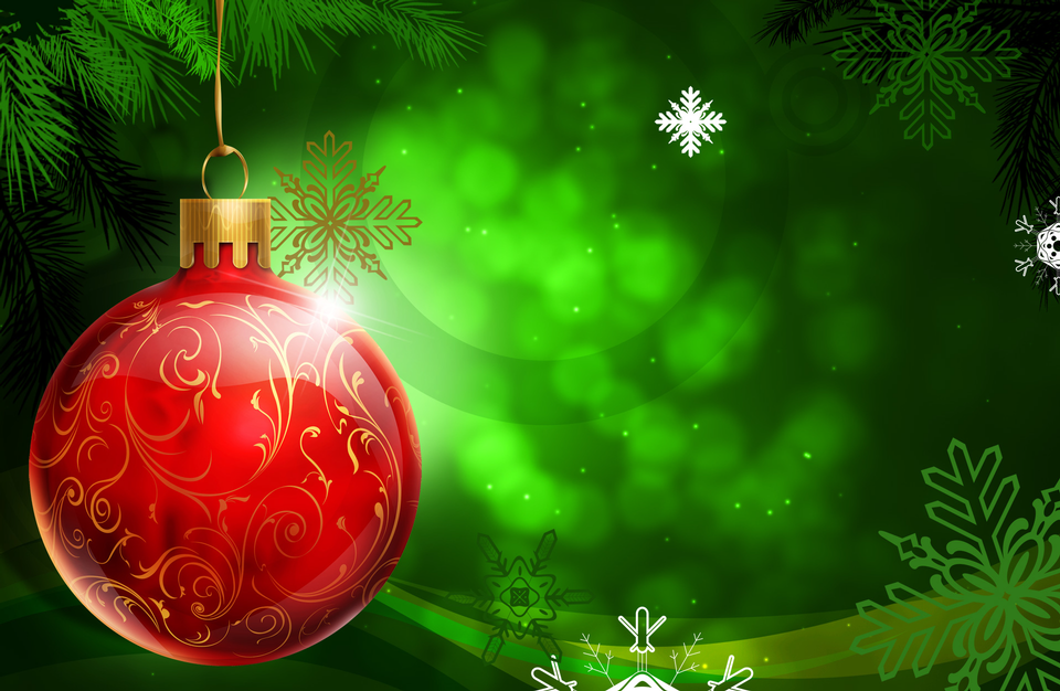 Christmas. Christmas Holiday Background with Red Bauble
