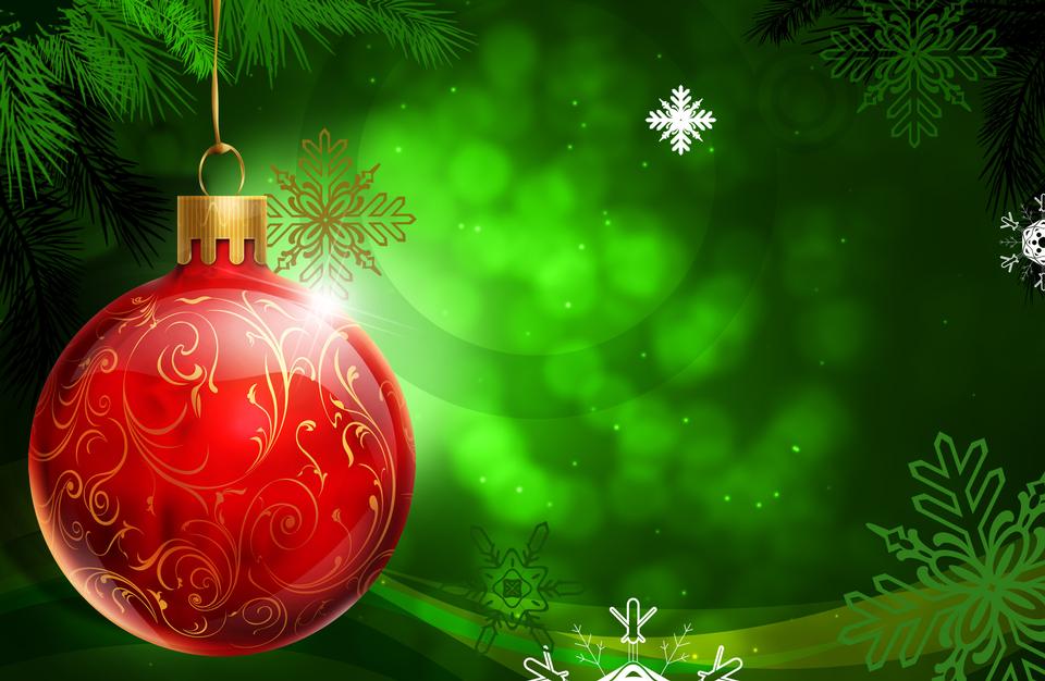 Weihnachten. Weihnachtsfeiertagshintergrund mit rotem Flitter